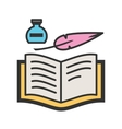 Quill and Book vector image