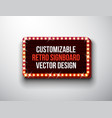 retro signboard or lightbox vector image vector image