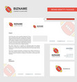 rugby ball business letterhead envelope and vector image vector image