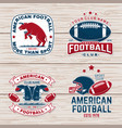 set american football or rugby club badge vector image vector image