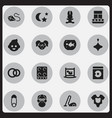 set of 16 editable family icons includes symbols vector image