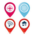 set of gps navigation elements vector image