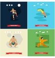 set of martial arts flat design vector image vector image