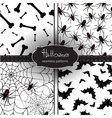 Set of seamless Halloween backgrounds vector image