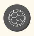 soccer ball round linear icon with an vector image vector image