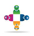 teamwork medical people logo vector image