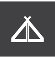 Tent Icon On Dark vector image vector image