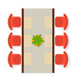 top view dining room interior element vector image vector image
