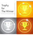 trophy for the winner vector image vector image