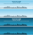 vancouver skyline event banner vector image