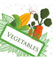vegetables fresh healthy nutrition poster vector image vector image
