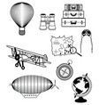 Vinatge travel components vector image