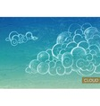 Vintage Sky background with Clouds vector image vector image