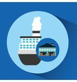 warehouse building boat shipping vector image
