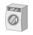 washing single icon in monochrome stylewashing vector image