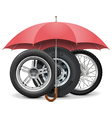 Wheels under Umbrella vector image vector image
