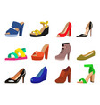 womens shoes flat fashion design collection vector image vector image