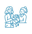 work gossip linear icon concept work gossip line vector image