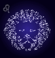 Zodiac sign of leo made of stars vector image