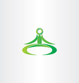 green yoga man icon vector image