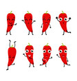 happy chili cartoon character vector image
