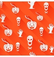 Seamless Halloween background Light flat icons vector image