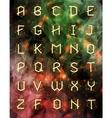 geometric font Creative Alphabet Typographic Set vector image