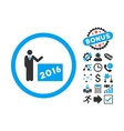 2016 Show Flat Icon with Bonus vector image vector image