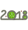 2018 year template road marking number vector image