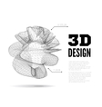 3D abstract design vector image
