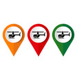 a helicopter icon on a white background vector image vector image