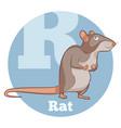 abc cartoon rat vector image vector image
