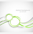 Abstract background wiht two circles vector image vector image