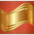Abstract Gold Background With Curves vector image vector image