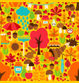 autumn season seamless pattern vector image vector image