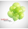 background with green balloons vector image vector image