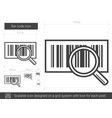 bar code line icon vector image