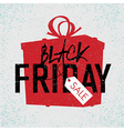 black friday box poster vector image vector image