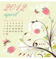 calendar for 2012 april
