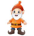 cartoon happy dwarf vector image vector image