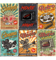 cinema set of posters vector image vector image