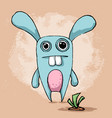crazy fanny cute rabbit character vector image