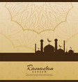 creative ramadan kareem festival greeting vector image vector image