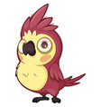 cute purple parrot with a small beak vector image vector image