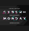 cyber monday sale abstract card flyer or vector image