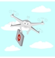 Drone Ambulance services The sky vector image vector image