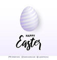 easter holiday greeting card or banner template vector image vector image