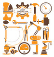 engineer and industrial tool vector image