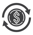 exchange glyph icon business and finance dollar vector image vector image