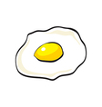 Flat design of doodle scrambled egg vector image vector image